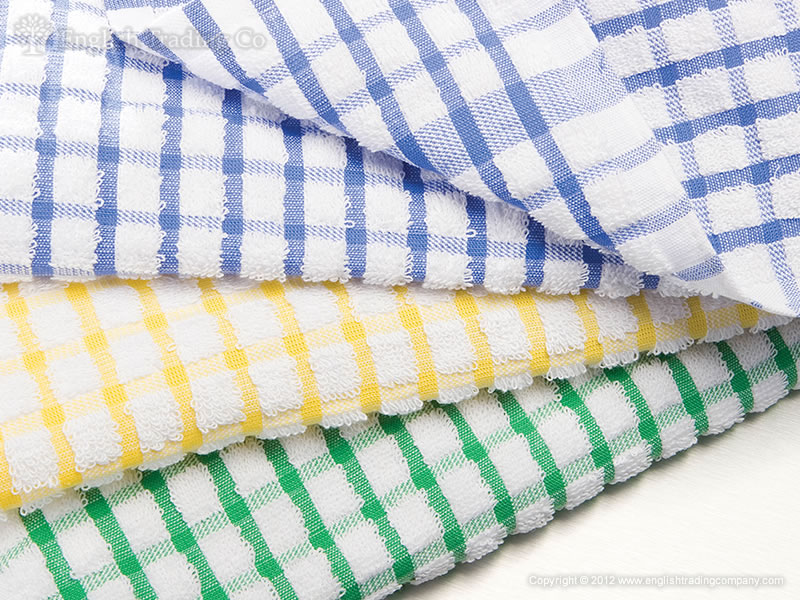 Terry Cloth Kitchen Towels.100 Cotton Mono Check Terry Dish Cloth Towel